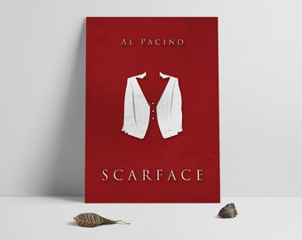 Scarface poster print,Scarface-the movie print,Film poster art,Alternative movie poster,Minmalistic design poster,Al Pacino,Instant Download