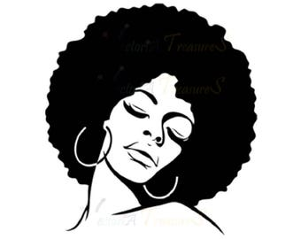 Afro svg, Afro lady svg, Afro lady Silhouette, Afro vector file, Afro vector, Afro cricut svg, Afro svg files