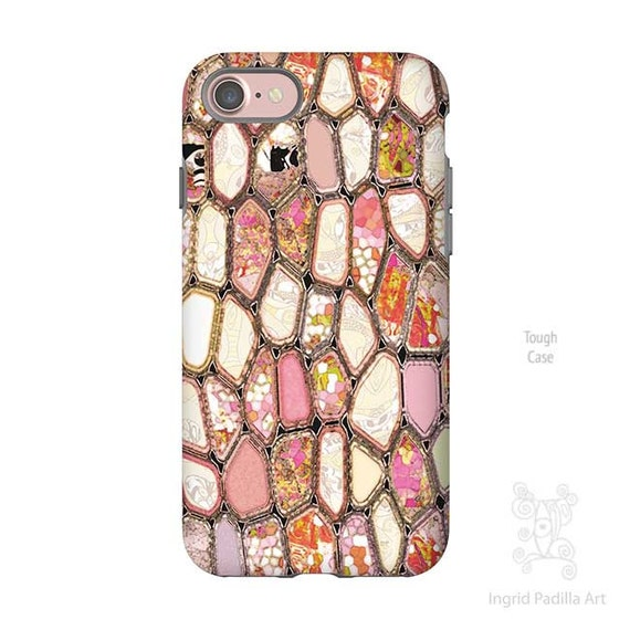 Cells in Pink - Geometric - Pink iPhone case