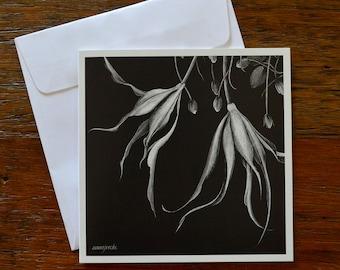 Floral 'Tangled' - Greeting card 12.5cm x 12.5cm