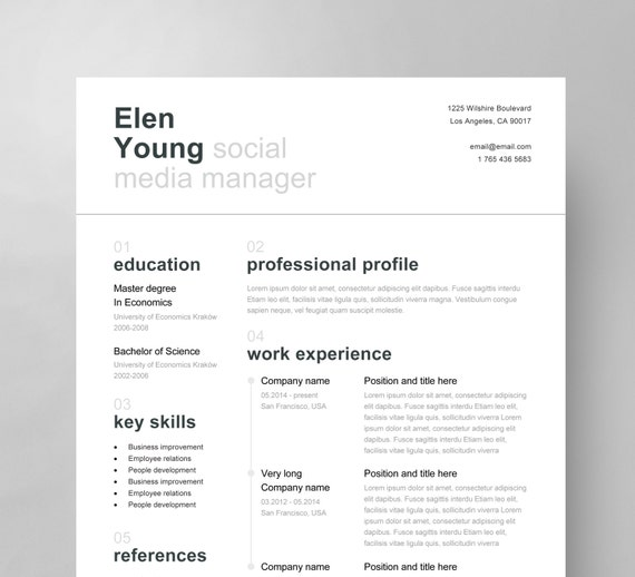 Swiss resume template cover letter reference page clean swiss resume template cover letter reference page clean creative modern free business cards instant download yelopaper Image collections