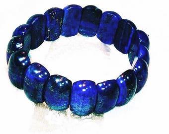 Lapis Lazuli Bracelet, Stretch Bracelet, Handmade By NorthCoastCottage Jewelry Design & Vintage Treasures