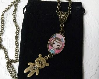 Necklace. Sweet baby. Original art.