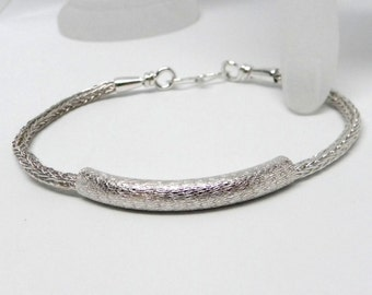 Narrow double woven Trichinopoly Bracelet, will fit a 7.5 inch Wrist  IN STOCK