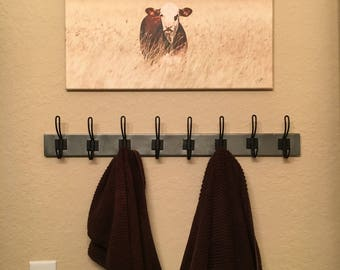 Metal Wall Coat, Scarf, or Towel Rack