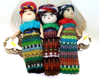 Guatemala Worry Doll Hair Barrette Calla Lily Hair Accessories