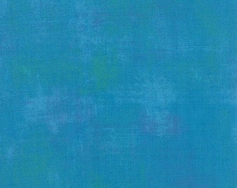 Grunge Turquoise, Quilt Fabric by the Yard, Moda 30150 298, Premium Quilt Fabric, Blue Green
