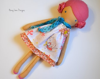 Cloth Doll - Pink Haired Girl
