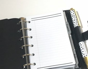 Lists & Notes Planner Inserts | Pocket Size Planner