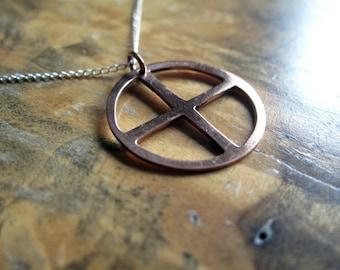 medicine wheel necklace   '4 points'
