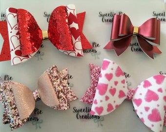hair clips - pretty bow - love hearts - baby headbands - girls bows