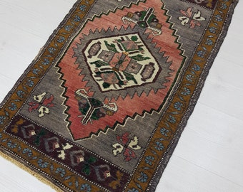 Small Rug, Oushak Rug, Turkish Rug, Vintage Rug, Door Mat, Pillow Rug, SMALL TURKISH RUG, Kitchen Rug, Turkish Oushak Rug, Small Oushak Rug!