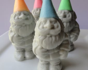 Garden Gnome Soap - BLUE Hat - Scented Jack Frost - Goats Milk  - Novelty - Teen - Easter gift - For her - Shaped Soap - Mothers day gift