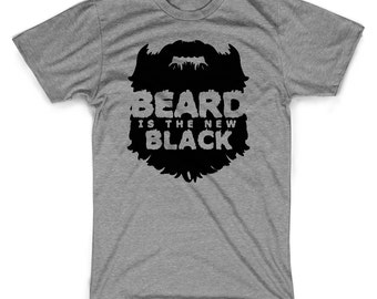 Beard is the new black t-shirt funny hipster bearded man shirt