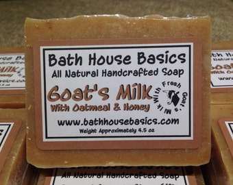 Goat's Milk Soap with Oatmeal & Honey