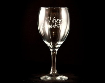Custom Engraved Wine Glass - 11 1/2 oz (Set of Two)