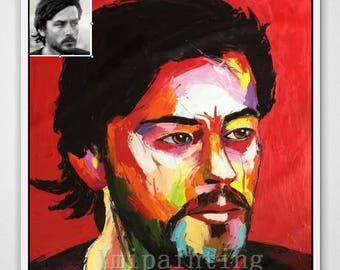 Custom oil Portrait Art Palette Knife Painting Person Home Decoration photo to painting Wall Pictures  Home Decor paints Wall art paint