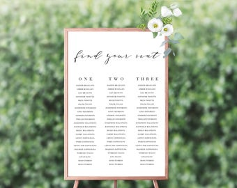 Add On   Seating Plan A2/A1   Wedding Event Invitation Suite   Printable Digital File Printed Invite Invitations Stationery