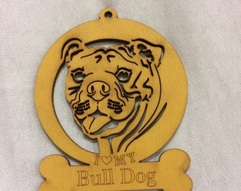 American Bulldog Ornament