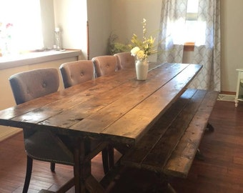 Whitewash table etsy farmhouse table farm table long farmhouse table rustic table rustic wedding workwithnaturefo