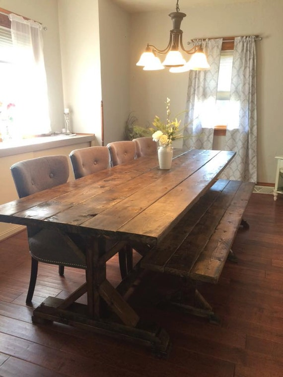 Farmhouse Table Farm Long Rustic