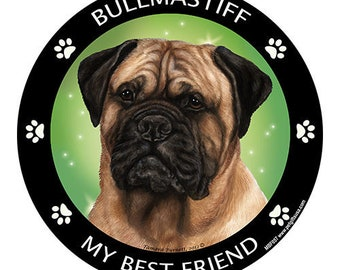 Bullmastiff My Best Friend Dog Magnet