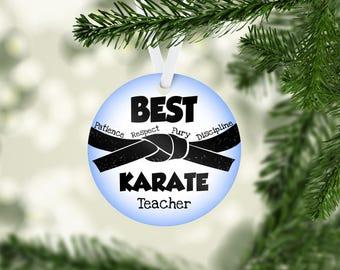 Best Karate Teacher Ornament