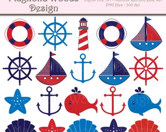 nautical clip art pink and navy blue nautical clip art rh etsy com nautical clip art free printable nautical clip art borders free download