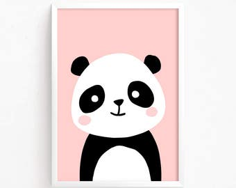 Sale 50% Off - Baby Panda Bear Poster ( nursery art nursery printable Woodland Animal Wall art panda printable Instant Download Digital )