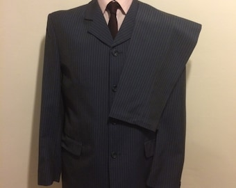 Klaus Rheiner Blue Stripe Suit