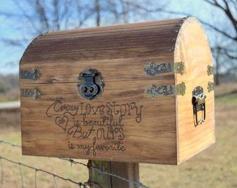 Shabby Chic Wedding Rustic Wooden Card Box Rustic Wedding