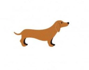 Brown Dachshund Embroidery Design Stitch Instant Download