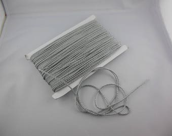 Silver and gray rayon twisted cord