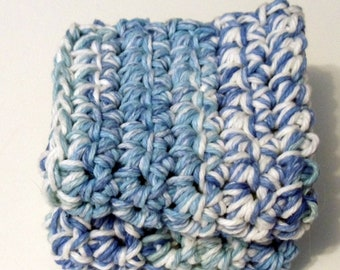 Tie Dye - Crochet Dish Cloth Hot Pad  Pot Holder  Cotton set of two