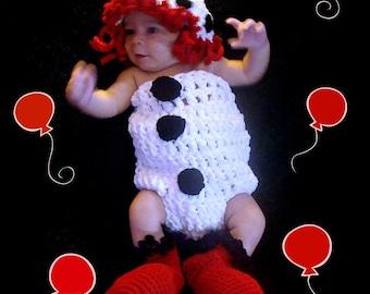 Clown Crochet Pattern pdf 623 Photo Prop