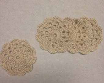 Crochet Handmade Coasters Set of Four