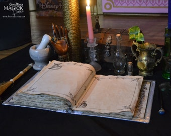 "25 Pages of ""Witching Moon"" Book of Shadows Parchment / Binder Refill Pages / Vintage Witchcraft  Spellbook Illustrations / Paper Stationary"