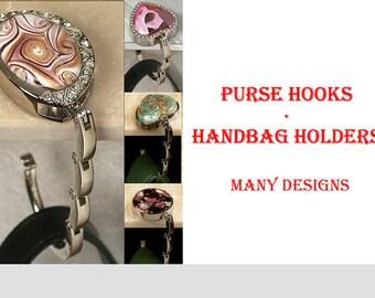 Handbag Hanger Purse Hook Gift for Women Bridal Shower Favors with 5 Unique Designs