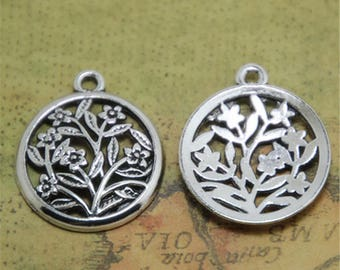 15pcs Life Tree Charms silver tone wish tree Charm Pendants, Lucky tree 27x23mm ASD0701