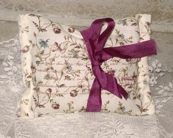Lavender Sachet Vintage French Floral Lavender Sachet Handmade using Cotton Fabric from Paris France