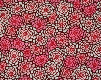 Tissu japonais chrysanthème rose par le demi verge moderne japonaise en Kimono imprimé Floral