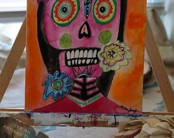 Mixed Media On Canvas. Hermosa. 8x10