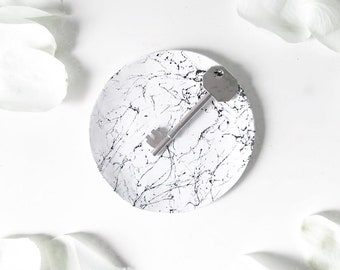 Marble Effect Ring Dish // Trinket Dish // Key Dish // Home Decor // Black and White // Housewarming Gift // Gift for Her