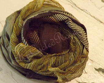 Lot of Chocolate Vintage ScarvesFree Shipping in USA