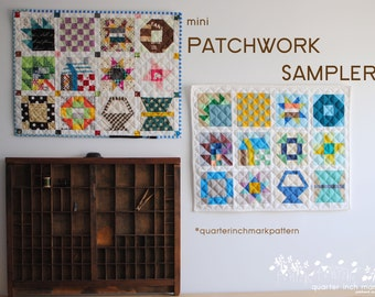 mini Patchwork Sampler PDF Sewing Pattern