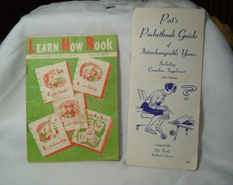 1959 Coats & Clark's Book # 170-B and 1970 Pat Trexler Pocket- Guide of Interchangeable Yarns.