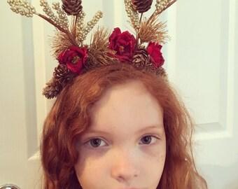 The Reindeer flower crown
