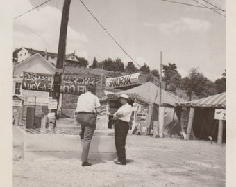 Circus Tents Original Vintage Photo / 1960s Snapshot / Circus Photograph / Historical Photo / Sandran Circus / Kingston NY / AntiquePhoto