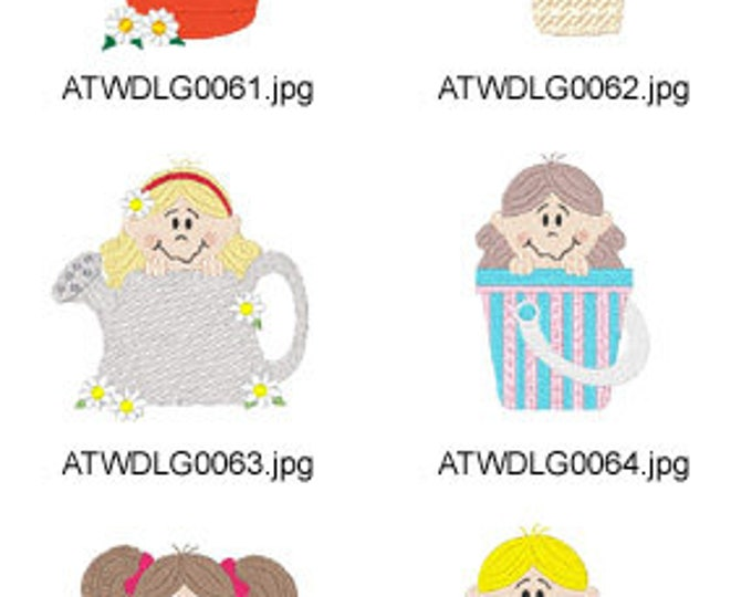 Summer-Peekers ( 6 Machine Embroidery Designs from ATW ) XYZ17E