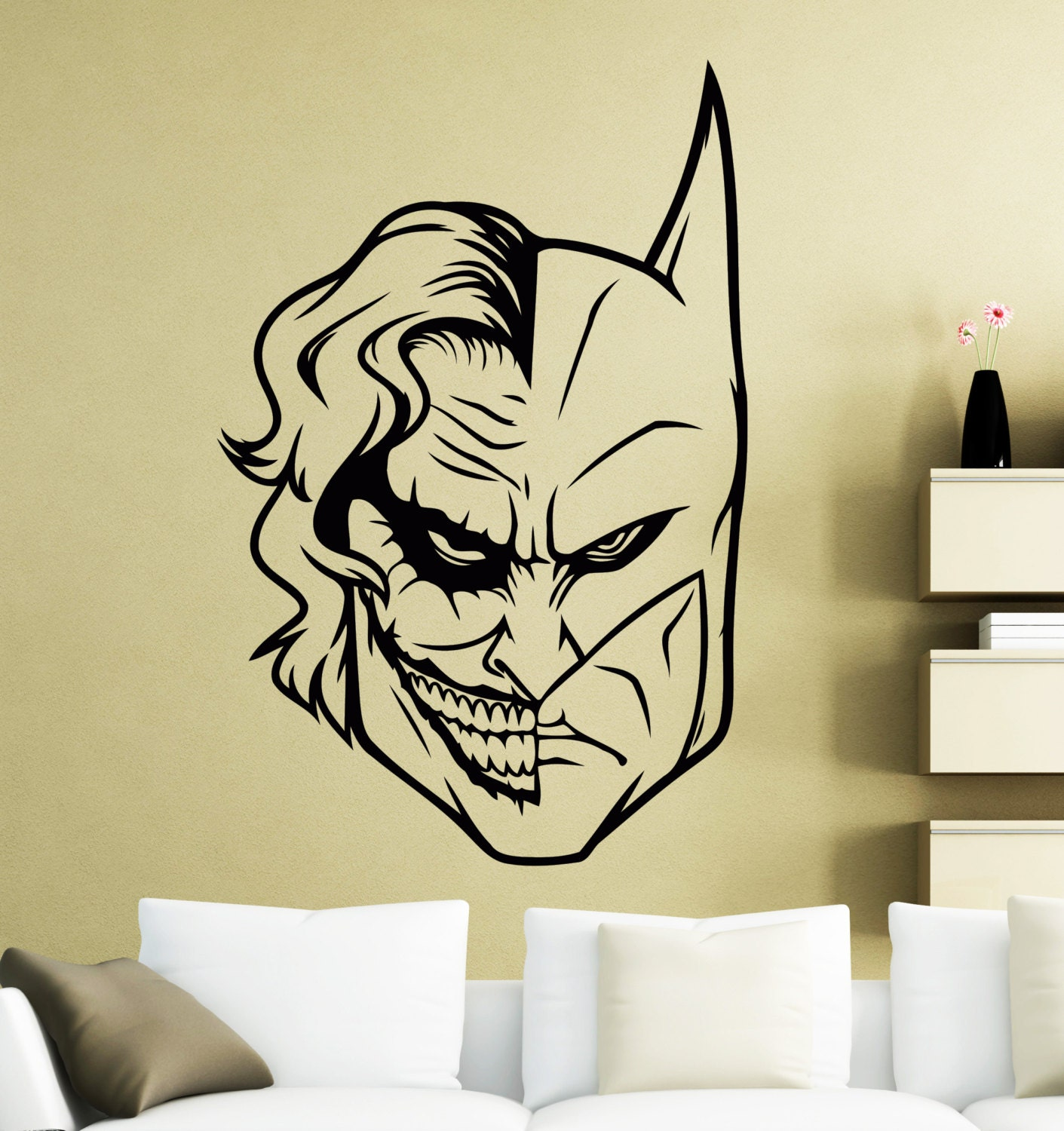 Batman Joker Wall Sticker Superhero DC Marvel Comics Vinyl